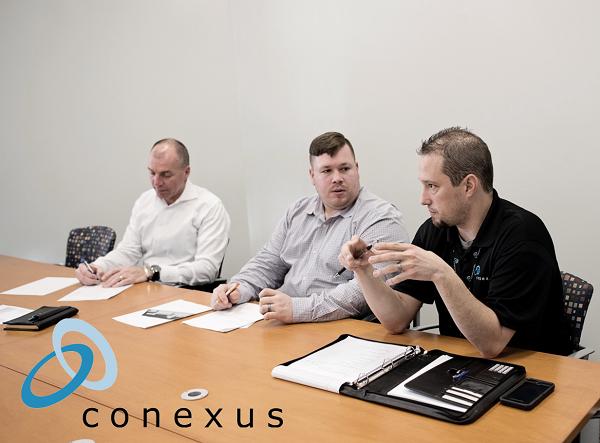 A Conexus team meeting